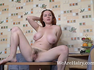 hairy, fingering, redhead