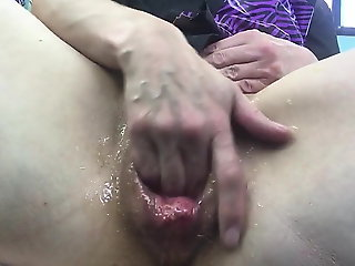 fingering, close-up, gaping