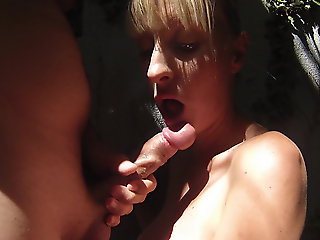 blonde, amateur, blowjob