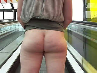 flashing, public nudity, milf