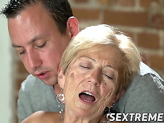 mature, blowjob, facial